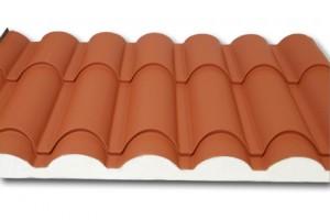 El panel sándwich teja, para viviendas, cubiertas,pergolas,terrazas.